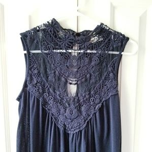Arden B Lace Front Ebroirdered Top